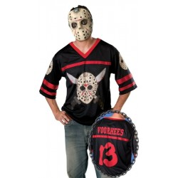 Friday the 13th Jason Hockey Shirt & Mask - Teen Costume
