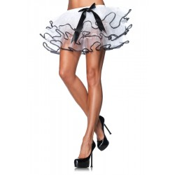 White Petticoat with Black Trim