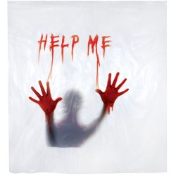 Creepy Shower Curtain - Help Me
