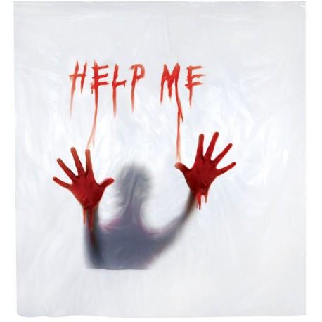 Creepy Shower Curtain - Help Me
