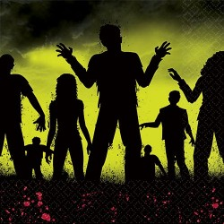 Beware Zombie Beverage Napkins (pkg 36)