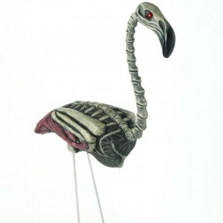 Zombie Flamingo Lawn Ornament