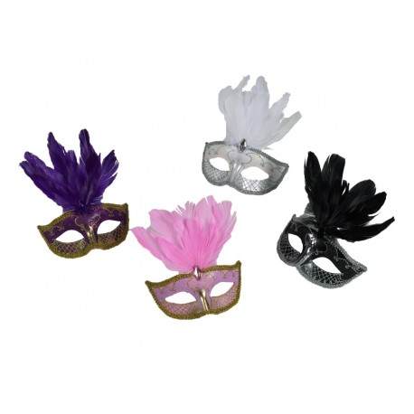 Carnival Feathred Mask