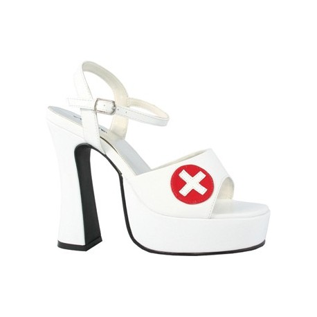 White Nurse Shoes with Red Cross