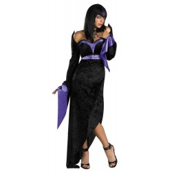 Gorgeous Goth - Adult Costume w/ wig and necklace