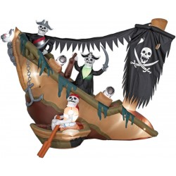 Airblown Skeleton Pirate Ship