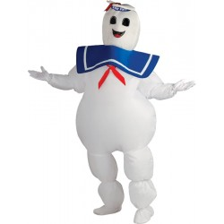 Inflatable Stay puft Marshmallow Man Costume