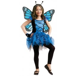 Ballerina Blue Butterfly Costume - Child