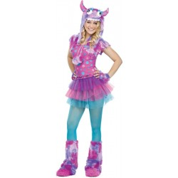 Polka Dot Monster Costume - Pink Teen