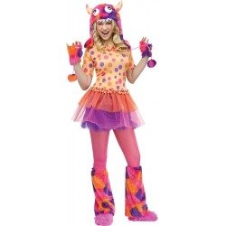 Polka Dot Monster Costume Orange - Teen