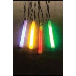 "6"" GLOW LIGHTSTICK W/NECKLACE 3 COLOR"