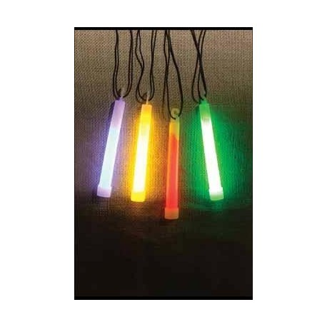 """6"""" GLOW LIGHTSTICK W/NECKLACE 3 COLOR"""