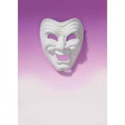 Mardi Gras Mask - White Comedy