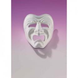 Mardi Gras Mask - White Tragedy