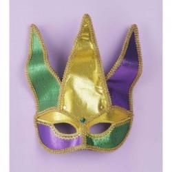 Mardi Gras - Half Mask Jester