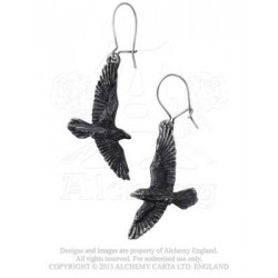 Black Raven Earrings