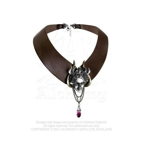 Apate's Duplicity Leather Choker