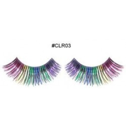 Black with Metallic Rainbow Eyelashes