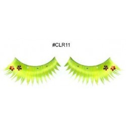 Green-Yellow Deco Lashes
