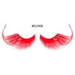 Red Orange Decorative Eyelashes