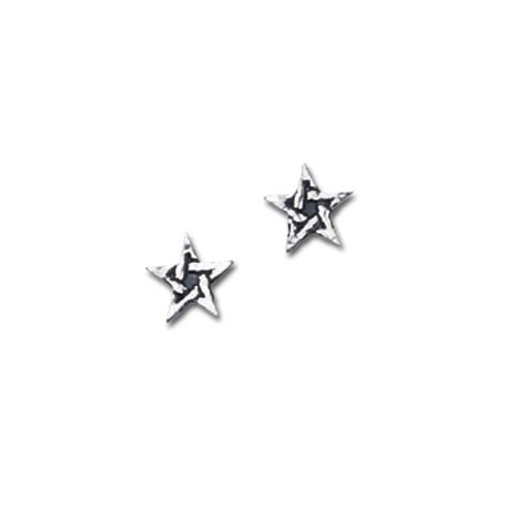 Pentagram Stud Earrings (pair)