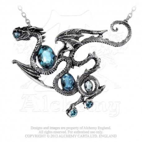 Aqua Dragon Necklace