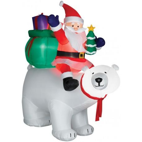 Airblown Santa on Polar Bear