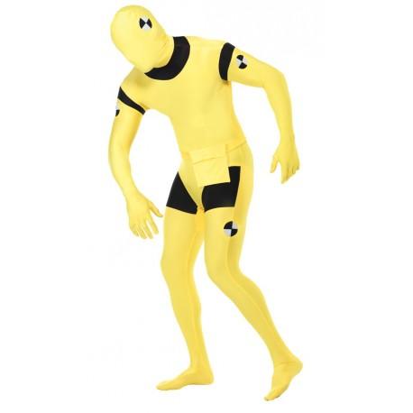 Crash Dummy Skin Suit - Adult Costume