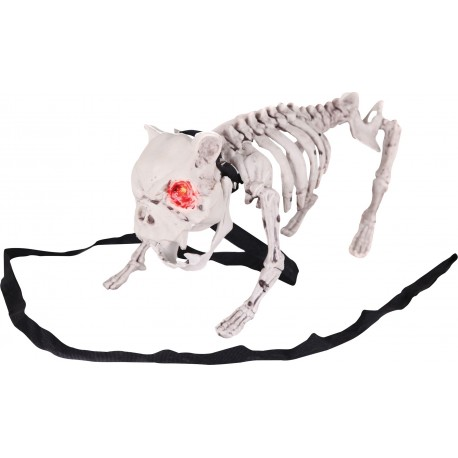 Barking Dog Skeleton Animated Prop