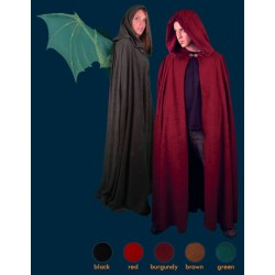 Cloak with Wing Slits - Black/ Full Length
