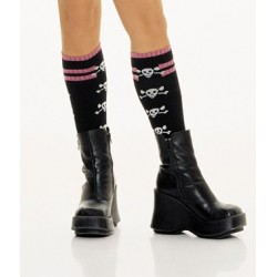 Knee High Socks With Skulls