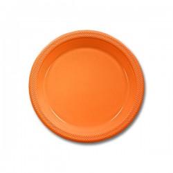 Orange Peel Plastic 7 inch dessert plate