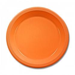 Orange Peel Plastic 10 Inch Dinner Plate (pkg 20)