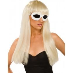 Lady Gaga Straight Blonde Wig with Bangs