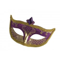 Purple and Gold Carnival Mask