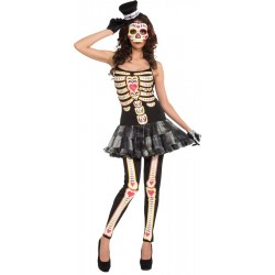 Day of the Dead - Female Adult Costume