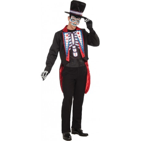 Day of the Dead - Male Adult Costume