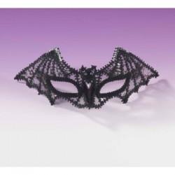 Mardi Gras Half Mask - Black Bat