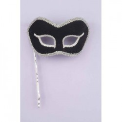 Mardi Gras Half Mask - Black
