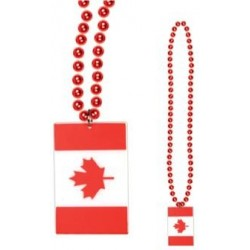 "Canada Flag 36"" Necklace"