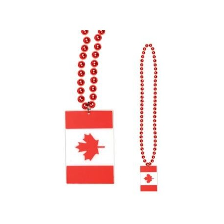 "Canada Flag 36"" Necklace"
