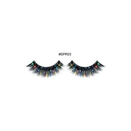 Black with Decoration lashes