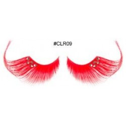 Red Orange Decorative Eyelashes