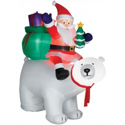 Airblown Santa on Polar Bear