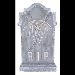 Winged Skeleton Tombstone