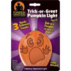 Trick-or-Greet Pumpkin Light